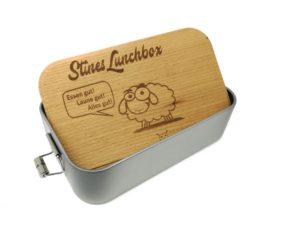 Lunchbox mit Gravur Holzdeckel
