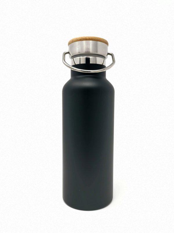 Trinkflasche mit Gravur Holzdeckel