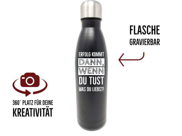 Trinkflasche mit Gravur