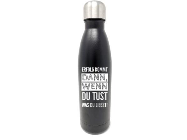 Individuelle Trinkflasche mit Gravur personalisiert