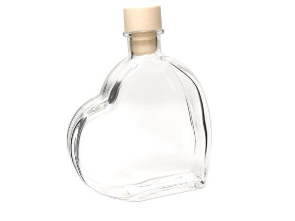 Flasche Herzform Gravierbar