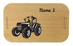 Lunchbox mit Gravur Traktor