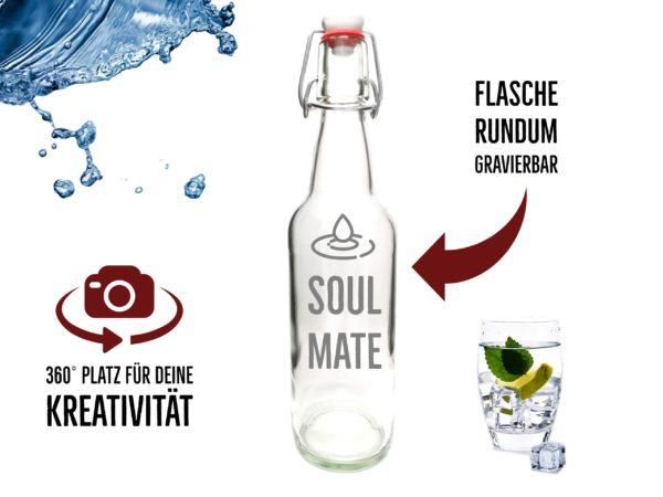 Soule Mate Flasche mit Gravur