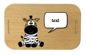 Lunchbox mit Gravur Beispiel Zebra und Text