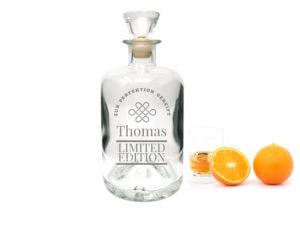 Apothekerflasche Whiskyflasche mit Gravur