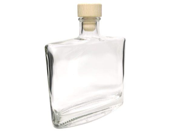 Flasche Flach seitlich mit Gravur