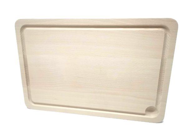 Holzbrett Buche mit Gravur seitlich