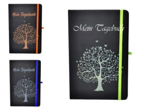 Farbübersicht Notizbuch mit Gravur