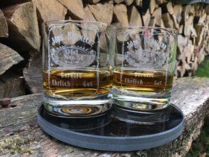 Whiskygläser mit Gravur Beispiel