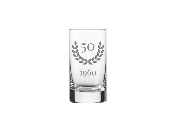 Schnapsglas zum 50.