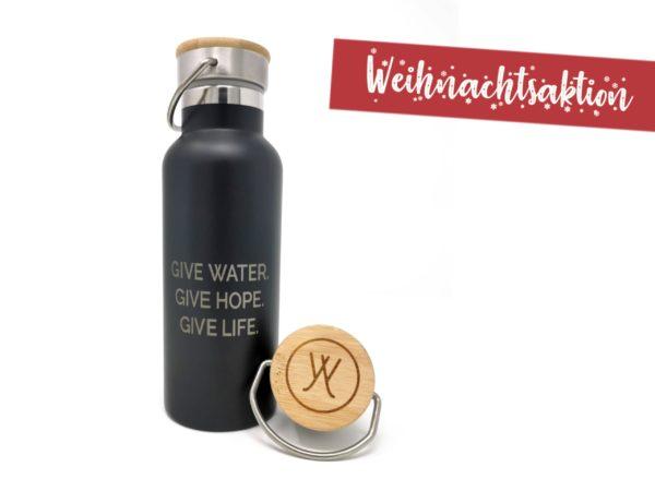 Weihnachtsaktion Ynspirewater Wasserflasche