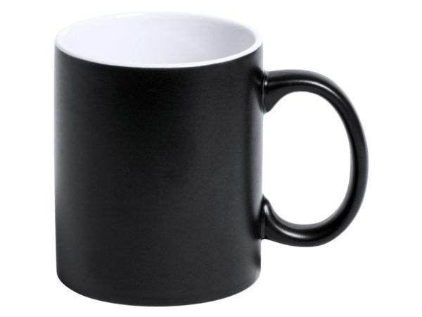 Tasse mit Gravur schwarz