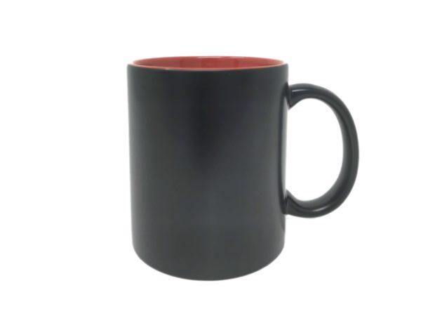 Tasse mit Gravur innen rot