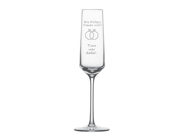 Gästeglas Hochzeit Sekt