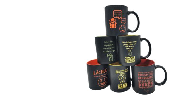Tassen mit Gravur in verschiedenen Farben online Gestalten