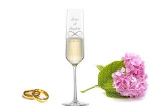 Sektglas mit Gravur zur Hochzeit