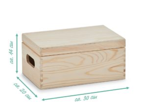 Holzkiste mit Gravur 30x20x14
