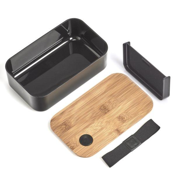 Lunchbox Bambus mit Gravur und Trennwand