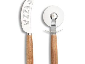 Frontalansicht Pizza Set mit Gravur