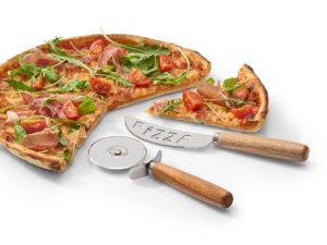 Pizza Schneidset mit Gravur