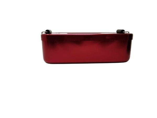 Vesperdose Metall Seitlich rot
