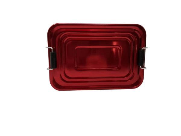 Lunchbox Deckel Aluminium rot