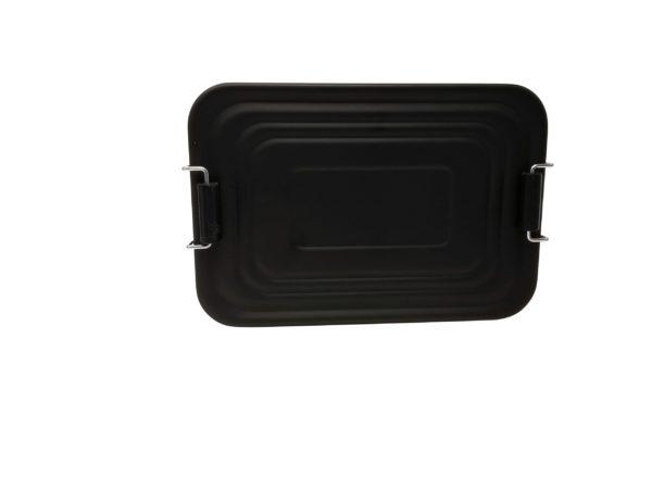 Lunchbox Deckel Aluminium schwarz