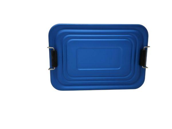 Lunchbox Deckel Aluminium blau