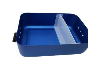 Metall Brotdose Trennsteg blau