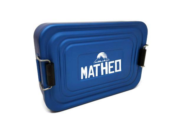 Lunchbox mit Namen Gravur Leon Blau Matheo