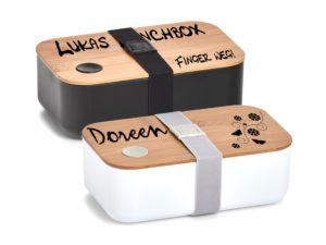 Lunchboxen mit Spruch Bambusdeckel Kunststoff