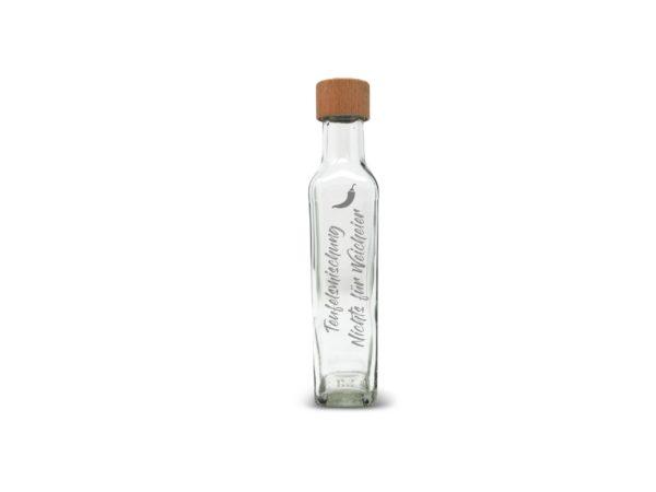 Gravurbeispiel Ölflasche mit Gravur