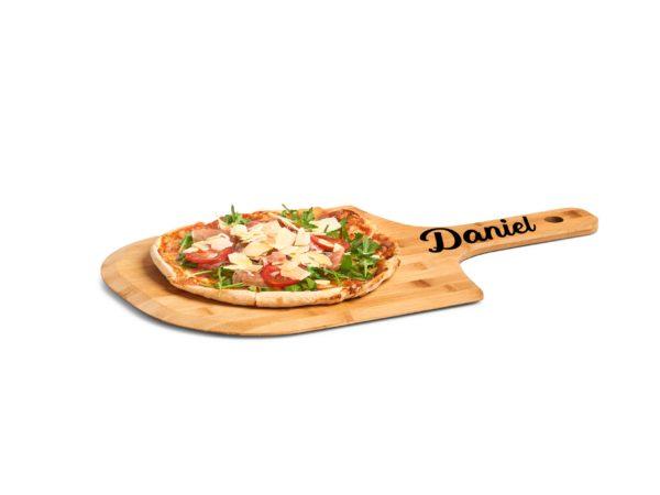 Pizzabrett mit Gravur Namen, Sprüche oder Logos