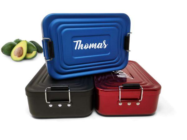 Produktbild-Lunchbox-mit-Gravur-Aluminium-blau-rot-schwarz