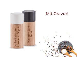Salz und Pfeffer Streuer mit Gravur Laserliebe.de