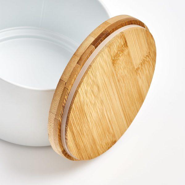 Personalisiertes Geschenk Geschenkdose mit Gravur Bambus weiß