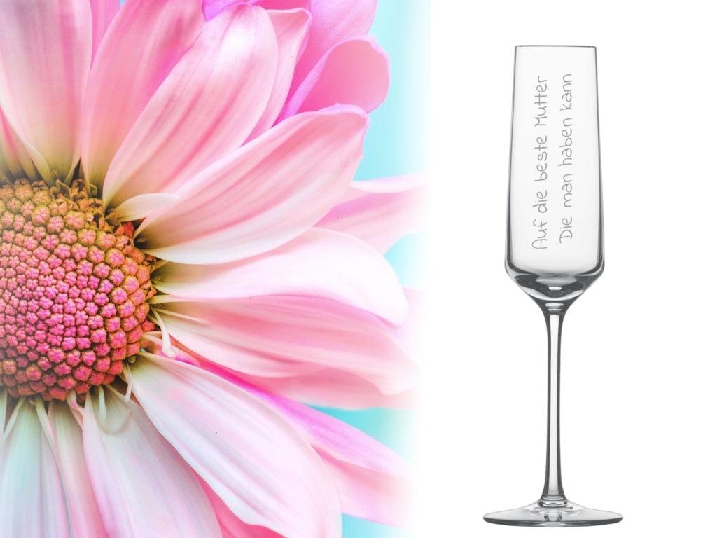 Sektglas zum Muttertag mit Gravur