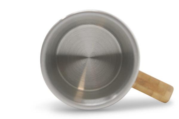 Innen Thermo Kaffeetasse mit Gravur Bambus