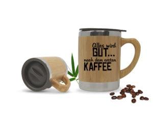 Kaffeetasse mit Gravur mit Henkel für unterwegs Togo