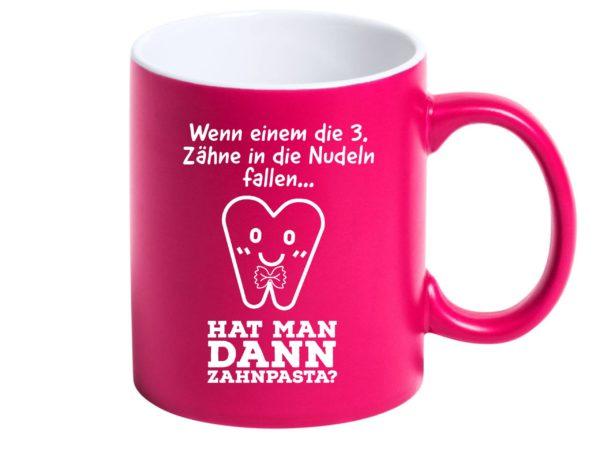 Tasse mit Spruch Zahnarzt Zahnpasta