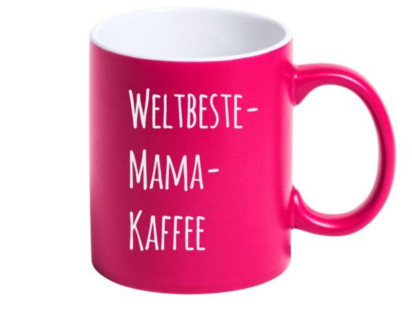 Beste Mama Tasse mit Gravur pink