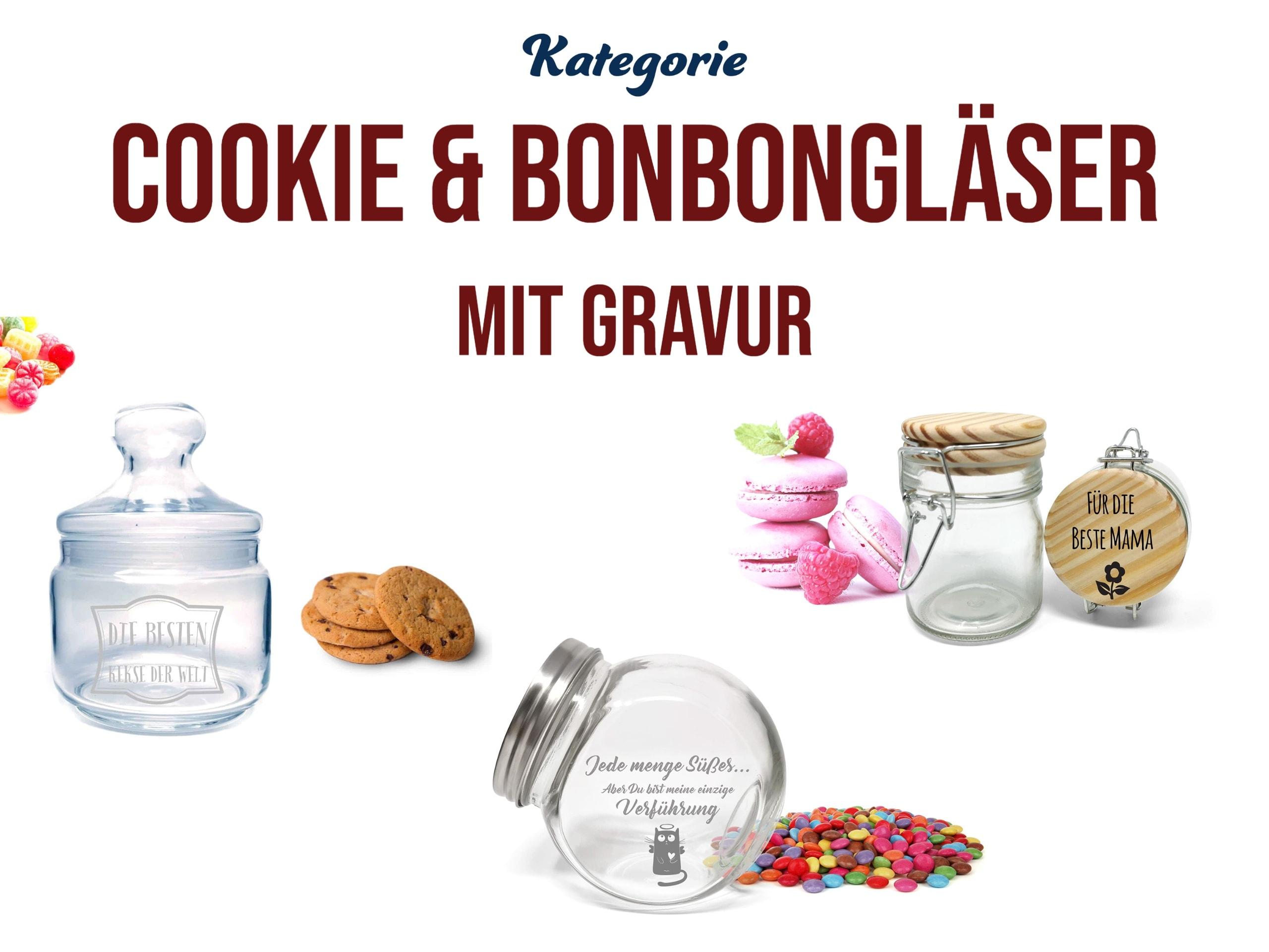 persönliches Geschenk Cookie- & Bonbongläser mit Gravur personalisieren