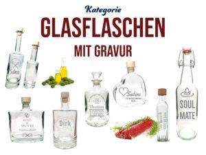 Glasflaschen mit Gravur