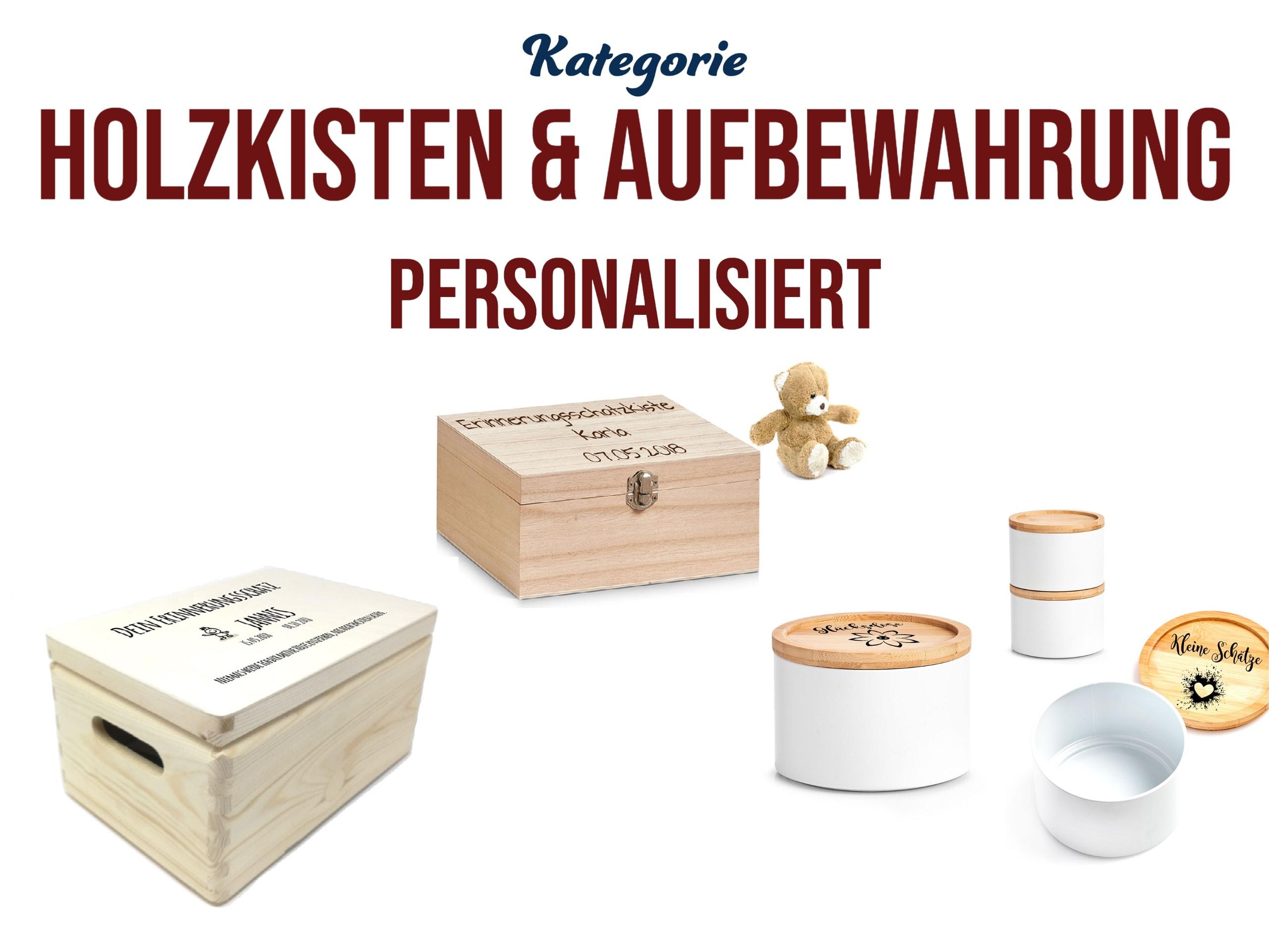 Schatzkisten mit Gravur Personalisierte Holzkisten Dosen mit Graviertem Deckel
