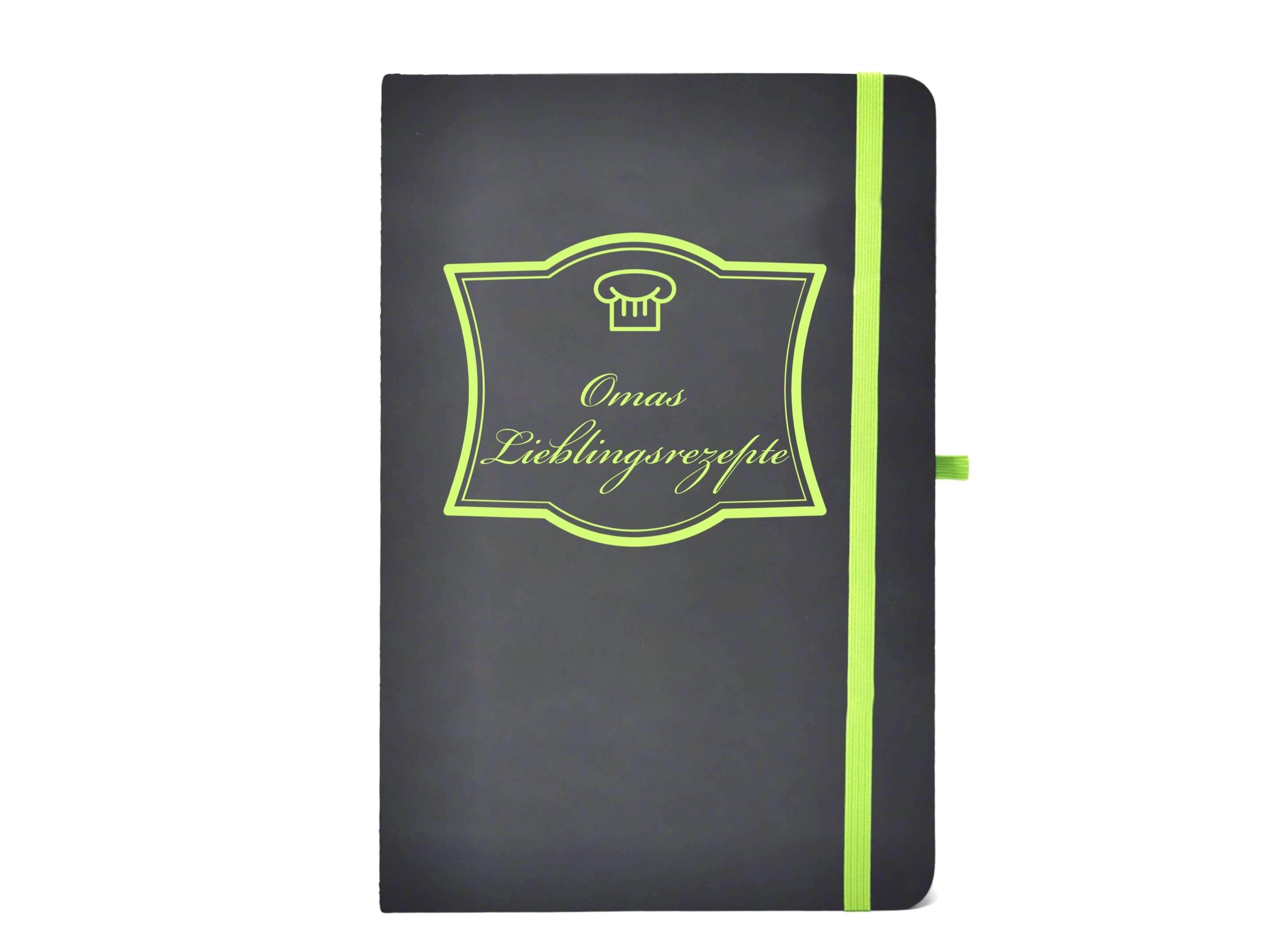 Notizbuch Omas Rezepte grün