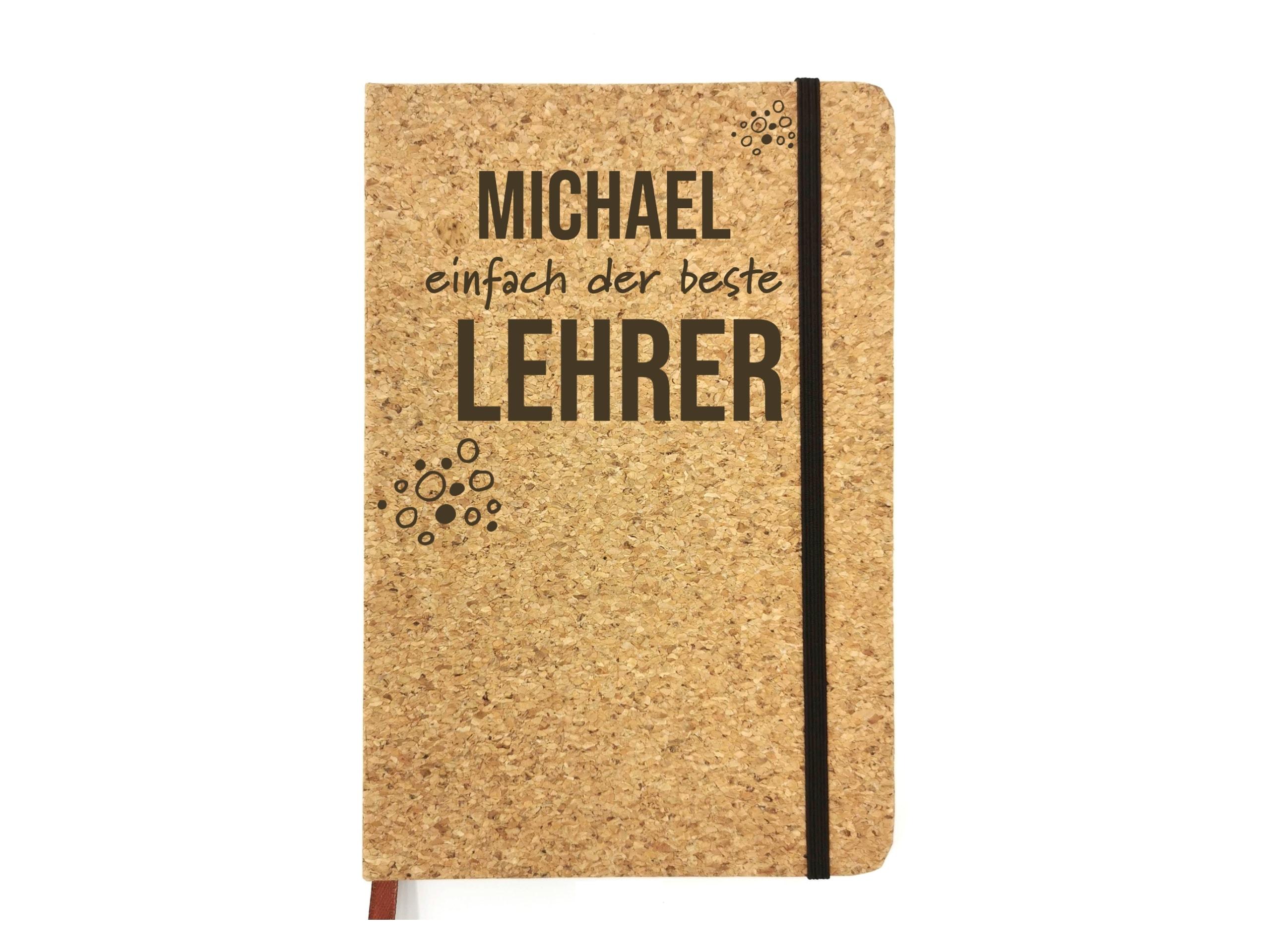 Notizbuch für Lehrer mit Gravur