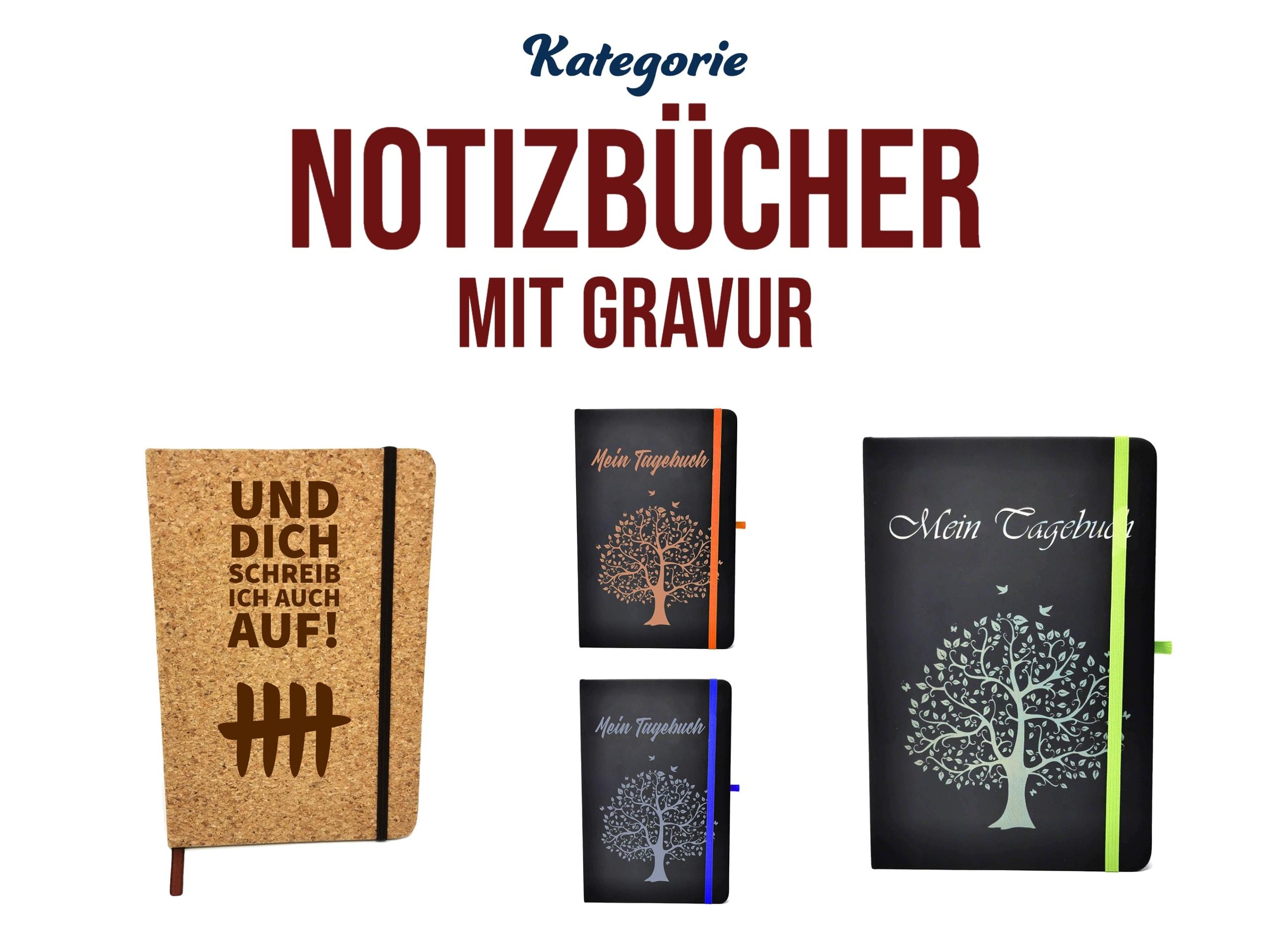 personalisierte Notizbücher mit Gravur