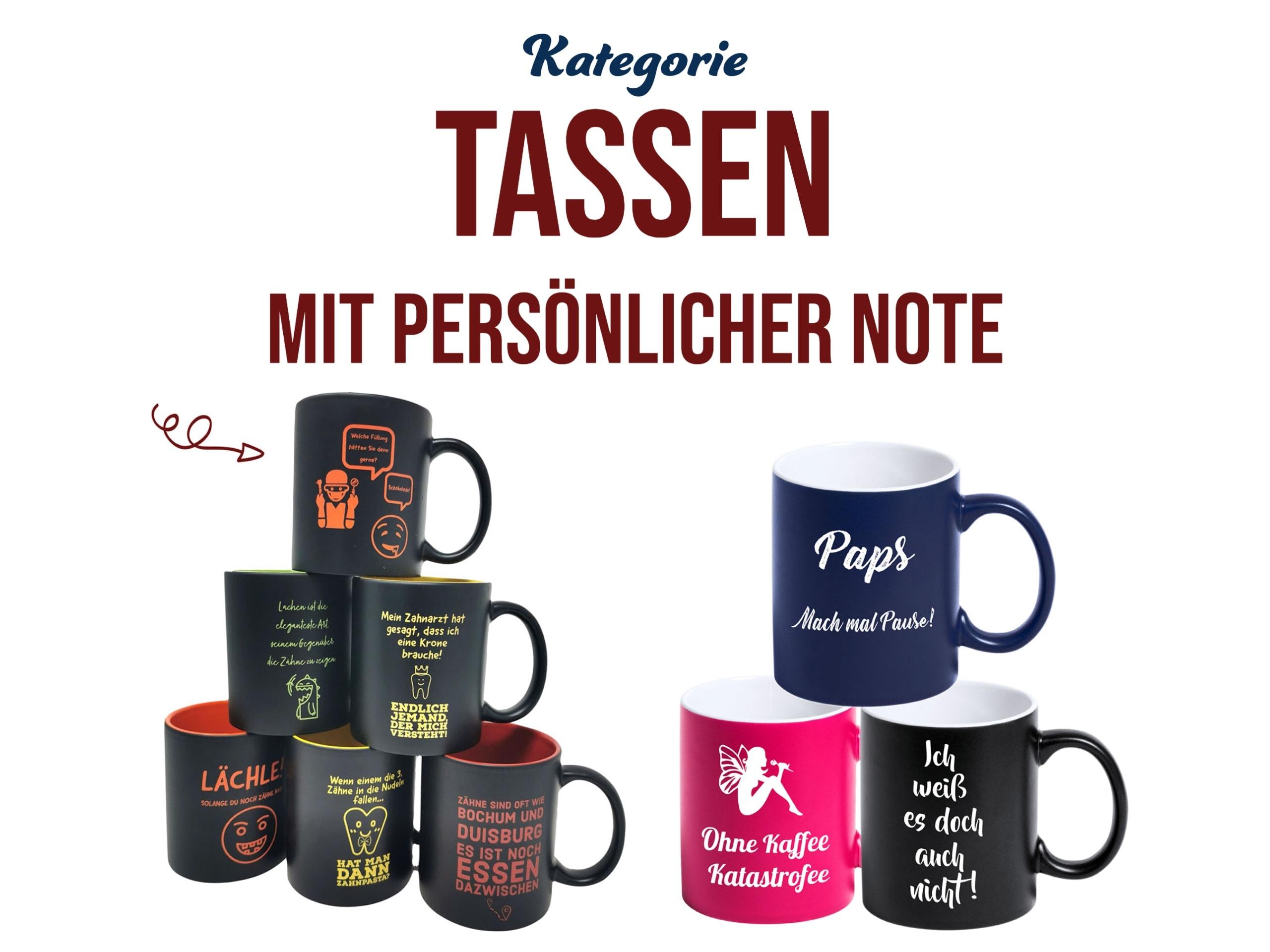 Persönliches Geschenk Tassen mit Gravur personalisieren