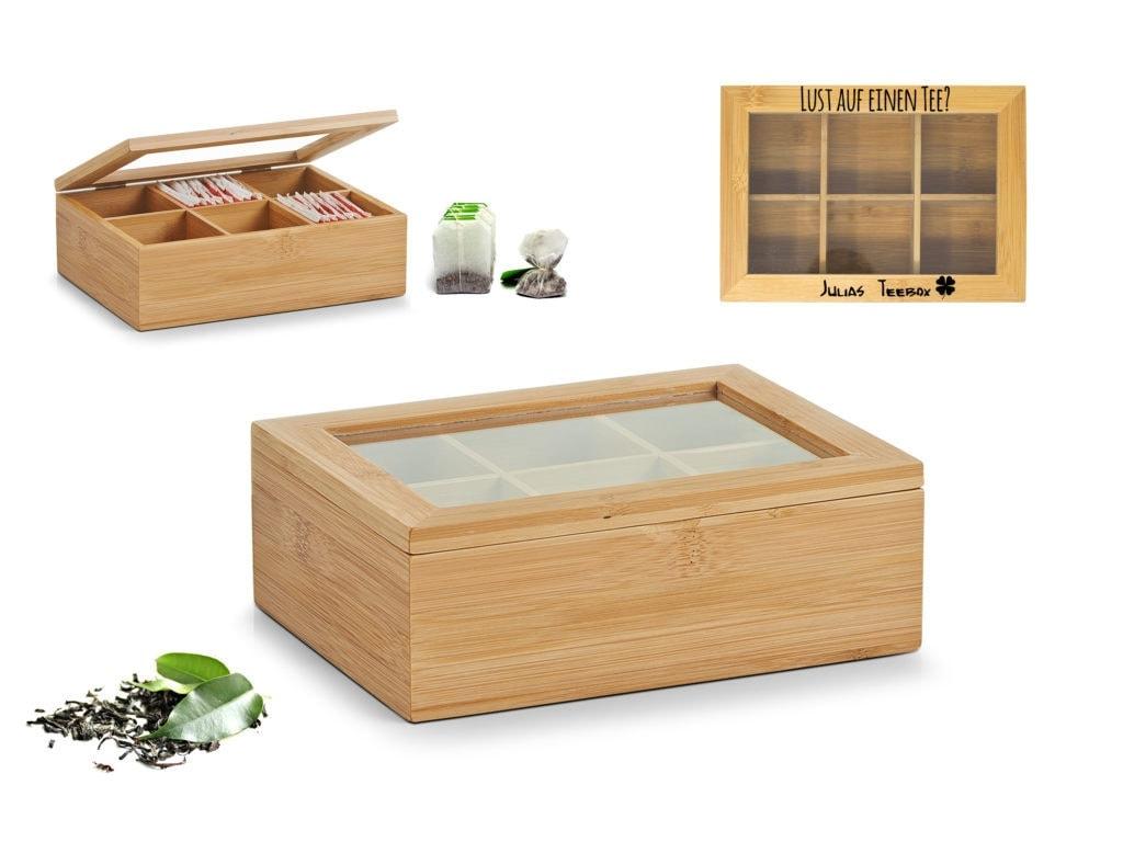 Teebox mit Gravur | Teekasten mit Gravur
