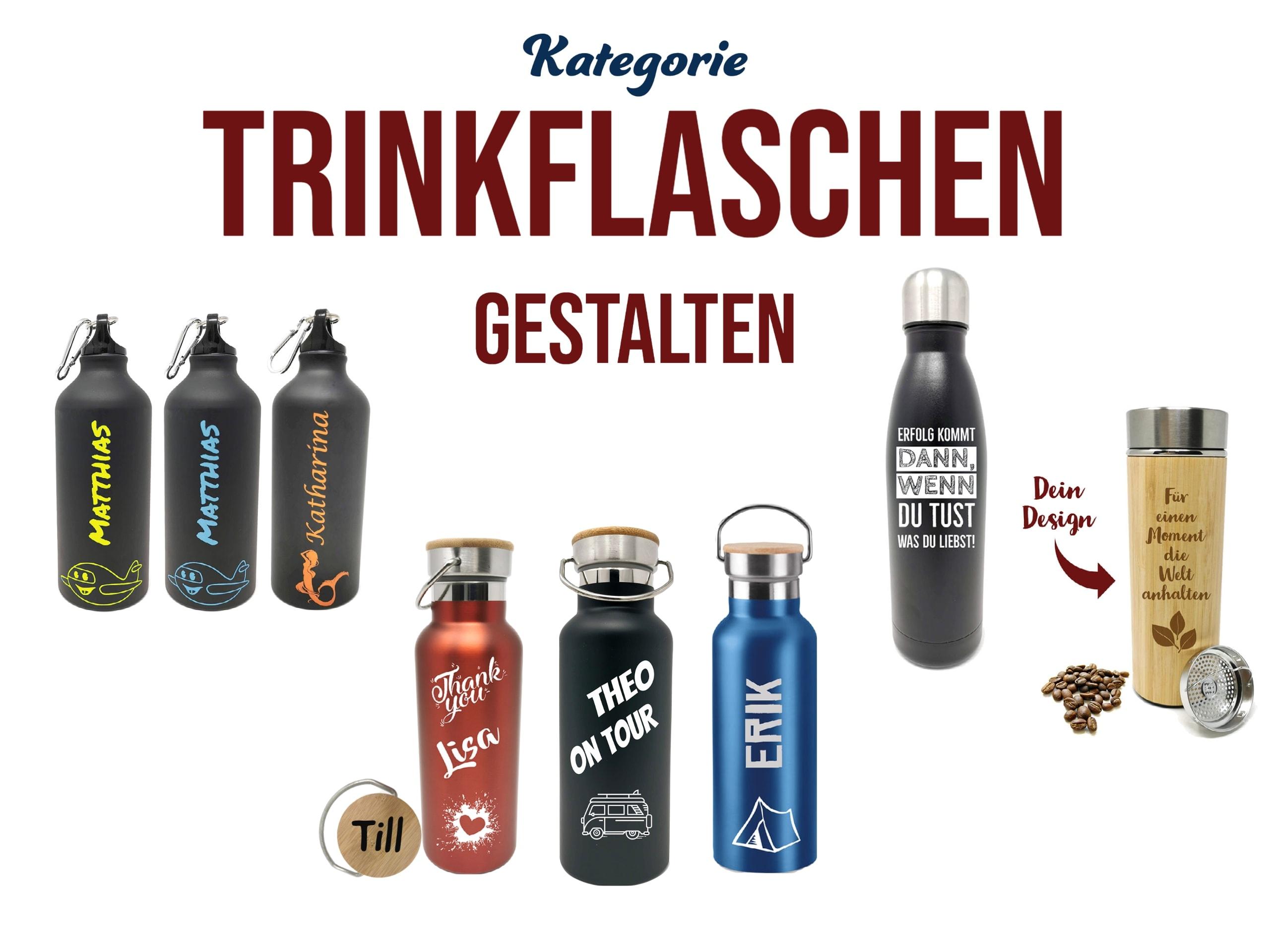 Personalisierte Trinkflaschen mit Gravur gestalten personalisiertes Geschenk
